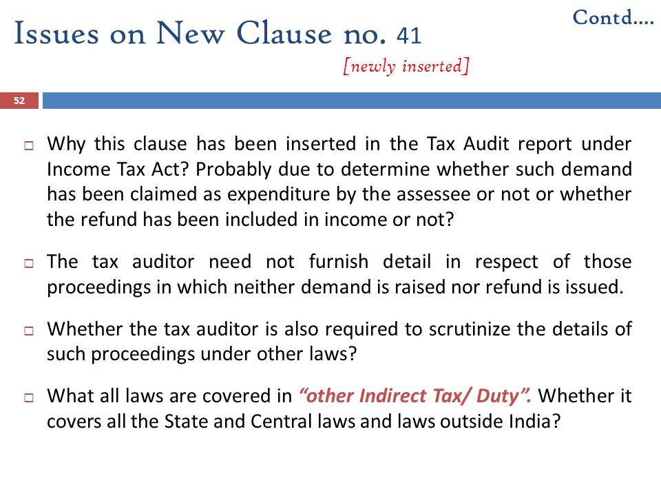Issues on New Clause no. 41 [newly inserted]
